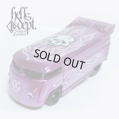 Photo1: JDC13 X BOO Pinstriping 【VOLKSWAGEN DRAG BUS (FINISHED PRODUCT)】PURPLE/RR(SKULL)