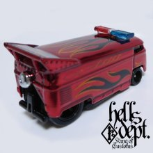 Other Images2: JDC13 X SHO Pinstriping 【VOLKSWAGEN DRAG BUS with BAR (FINISHED PRODUCT)】RED/RR