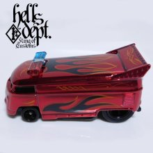 Other Images1: JDC13 X SHO Pinstriping 【VOLKSWAGEN DRAG BUS with BAR (FINISHED PRODUCT)】RED/RR