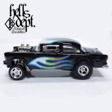 Other Images1: SHO Pinstriping 【'55 CHEVY BEL AIR GASSER (FINISHED PRODUCT)】BLACK-WHITE/RR