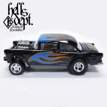 Other Images1: SHO Pinstriping 【'55 CHEVY BEL AIR GASSER (FINISHED PRODUCT)】BLACK-BLUE/RR