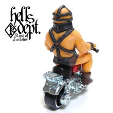 Other Images2: HELLS DEPT 【THE HUMUNGAS FIGURE with HONDA MONKEY (HAND PAINTED)】(RESIN FIGURES)
