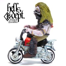 Other Images1: HELLS DEPT 【IMMORTAN JOE FIGURE with HONDA MONKEY (HAND PAINTED)】(RESIN FIGURES)