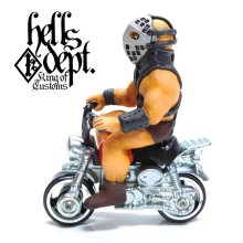 Other Images1: HELLS DEPT 【THE HUMUNGAS FIGURE with HONDA MONKEY (HAND PAINTED)】(RESIN FIGURES)