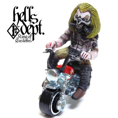 Photo1: HELLS DEPT 【IMMORTAN JOE FIGURE with HONDA MONKEY (HAND PAINTED)】(RESIN FIGURES)