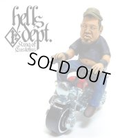 HELLS DEPT【COOKIE FIGURE with HONDA MONKEY (HAND PAINTED)】(RESIN FIGURES)