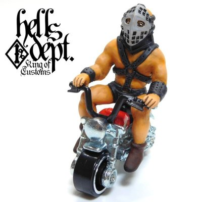 Photo1: HELLS DEPT 【THE HUMUNGAS FIGURE with HONDA MONKEY (HAND PAINTED)】(RESIN FIGURES)