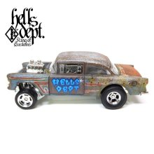 Other Images2: LOWERED B'STYLE x KATSUNUMA SEISAKUSYO 【'55 CHEVY BEL AIR GASSER (FINISHED PRODUCT)】RUSTED-BLUE/RR