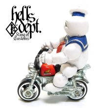 Other Images1: HELLS DEPT 【MARSHMALLOW MAN FIGURE with HONDA MONKEY (HAND PAINTED)】(RESIN FIGURES)
