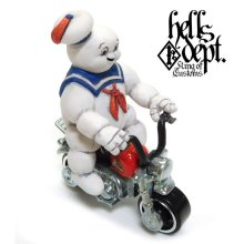 Other Images3: HELLS DEPT 【MARSHMALLOW MAN FIGURE with HONDA MONKEY (HAND PAINTED)】(RESIN FIGURES)