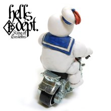 Other Images2: HELLS DEPT 【MARSHMALLOW MAN FIGURE with HONDA MONKEY (HAND PAINTED)】(RESIN FIGURES)