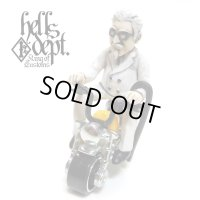 HELLS DEPT 【Mr. CHICKEN FIGURE with HONDA MONKEY (HAND PAINTED)】(RESIN FIGURES)