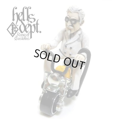 Photo1: HELLS DEPT 【Mr. CHICKEN FIGURE with HONDA MONKEY (HAND PAINTED)】(RESIN FIGURES)