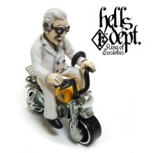 Other Images3: HELLS DEPT 【Mr. CHICKEN FIGURE with HONDA MONKEY (HAND PAINTED)】(RESIN FIGURES)