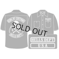 PRE-ORDER HELLS DEPT WORK SHIRTS 【USA EDITION】 BLACK/EXPECTED SHIP DATE March 25
