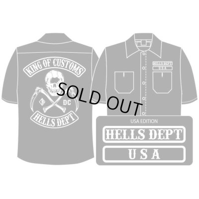 Photo1: PRE-ORDER HELLS DEPT WORK SHIRTS 【USA EDITION】 BLACK/EXPECTED SHIP DATE March 25