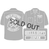 PRE-ORDER HELLS DEPT WORK SHIRTS 【JAPAN EDITION】 BLACK/EXPECTED SHIP DATE March 25