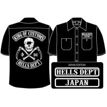 Other Images1: PRE-ORDER HELLS DEPT WORK SHIRTS 【JAPAN EDITION】 BLACK/EXPECTED SHIP DATE March 25