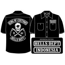 Other Images1: PRE-ORDER HELLS DEPT WORK SHIRTS 【INDONESIA EDITION】 BLACK/EXPECTED SHIP DATE March 25