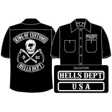 Other Images1: PRE-ORDER HELLS DEPT WORK SHIRTS 【USA EDITION】 BLACK/EXPECTED SHIP DATE March 25