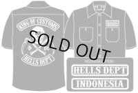 PRE-ORDER HELLS DEPT WORK SHIRTS 【INDONESIA EDITION】 BLACK/EXPECTED SHIP DATE March 25