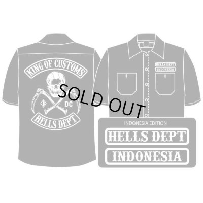 Photo1: PRE-ORDER HELLS DEPT WORK SHIRTS 【INDONESIA EDITION】 BLACK/EXPECTED SHIP DATE March 25