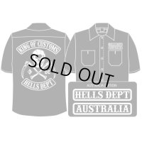 PRE-ORDER HELLS DEPT WORK SHIRTS 【AUSTRALIA EDITION】 BLACK/EXPECTED SHIP DATE March 25