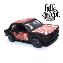 "Other Images3: 【""DARUMA"" DATSUN 510 (FINISHED PRODUCT)】 FLAT BLACK/RR"