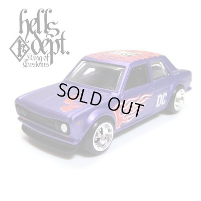 "Photo1: 【""DARUMA"" DATSUN 510 (FINISHED PRODUCT)】 FLAT PURPLE/RR"