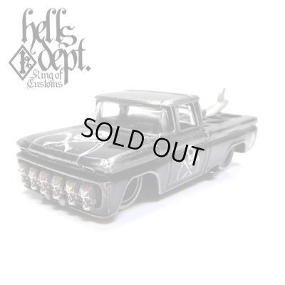"Photo1: PRE-ORDER - JDC13 【""SKULL CUSTOM"" '62 CHEVY PICKUP (FINISHED PRODUCT)】 BLACK/RR (EXPECTED SHIP DATE MAR 18, 2019)"