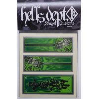 "HELLS DEPT- METAL STICKER 【""DARUMA""】GREEN (for SAKURA SPRINTER)"