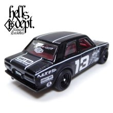 """Other Images2: JDC13 【""""HELLS DEPT 9th ANNIVERSARY MODEL VOL.3"""" DATSUN 510 (FINISHED PRODUCT)】 BLACK/RR"""