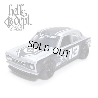 """Photo1: JDC13 【""""HELLS DEPT 9th ANNIVERSARY MODEL VOL.2"""" DATSUN 510 (FINISHED PRODUCT)】 SILVER/RR"""