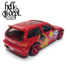 "Other Images2: JDC13 【""HELLS"" '90 HONDA CIVIC EF (FINISHED PRODUCT)】 RED/RR (MYSTERY PACKED)"