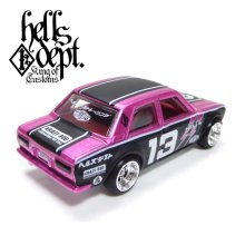 "Other Images2: JDC13 【""HELLS DEPT 9th ANNIVERSARY MODEL VOL.7"" DATSUN 510 (FINISHED PRODUCT)】 PINK/RR"
