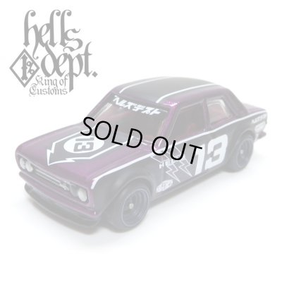 "Photo1: JDC13 【""HELLS DEPT 9th ANNIVERSARY MODEL VOL.8"" DATSUN 510 (FINISHED PRODUCT)】 PURPLE/RR"