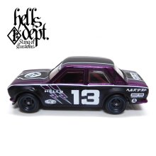 "Other Images1: JDC13 【""HELLS DEPT 9th ANNIVERSARY MODEL VOL.8"" DATSUN 510 (FINISHED PRODUCT)】 PURPLE/RR"